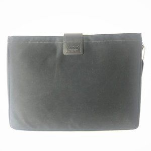 "VTG Coach Black Nylon & Leather 13"" Laptop Sleeve"